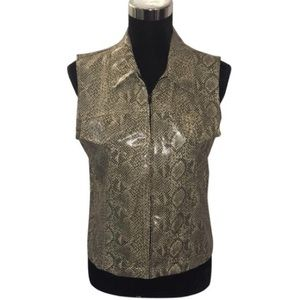 David Paul NY Faux Snake Skin Vest NWT MADE IN USA